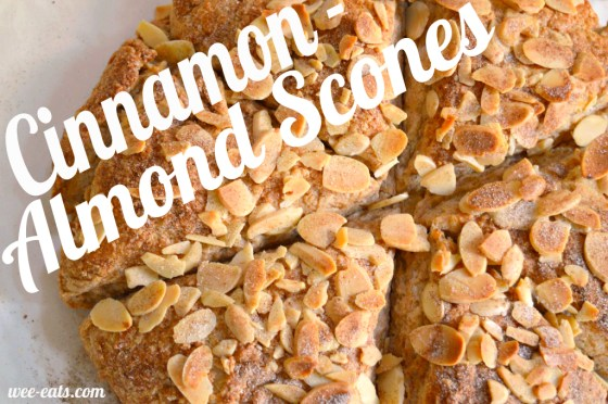 cinnamon almond scones pin - wee eats
