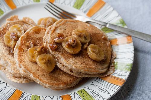 bananas foster pancake