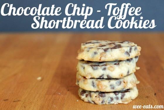 toffee shortbread cookies - wee eats