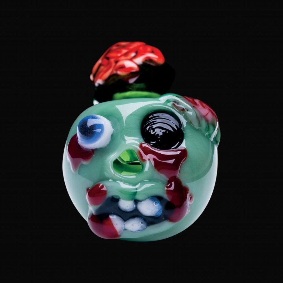 Zombie Pipe by Chameleon Glass halloween bongs