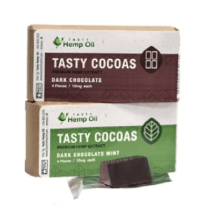 Tasty Cocoas Dark Chocolate 4ct (10mg/ea)