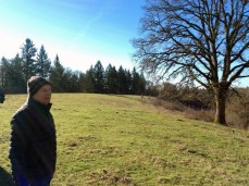 Tom touring a potential oak restoration site.