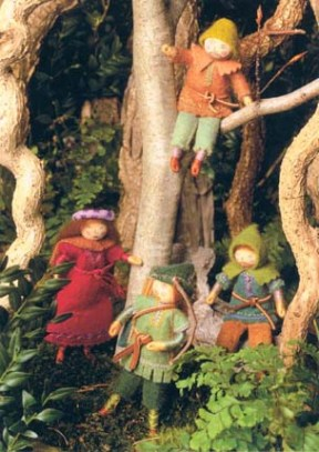 Cards - Robinhood, Maid Marion and the Merry Men in Sherwood Forest
