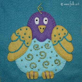 Folk Art Bird Applique :: Folk Art Pets Collection