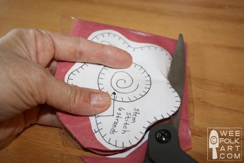 cortar o feltro