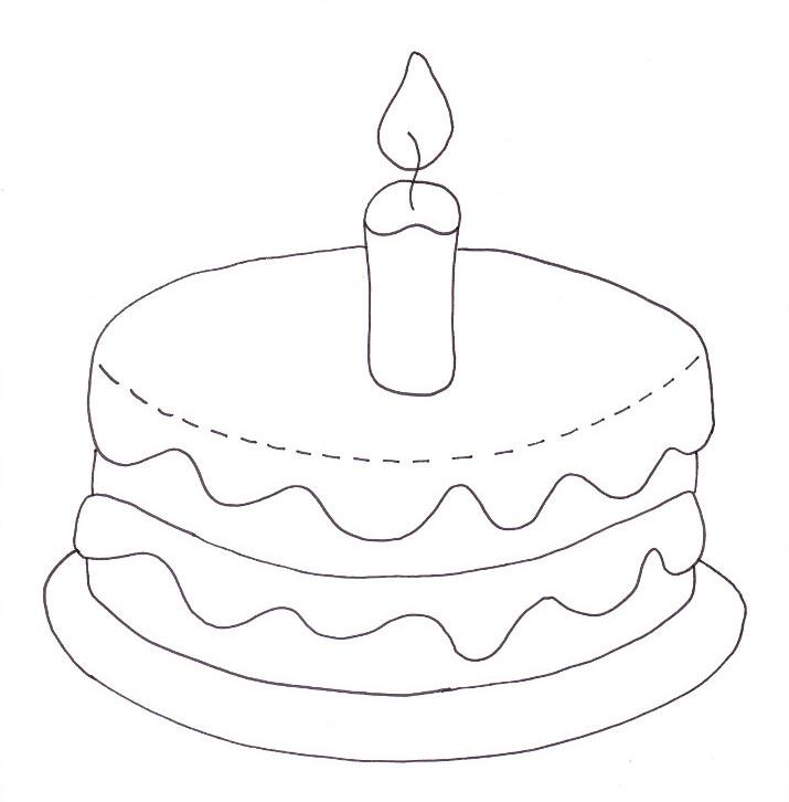 Birthday Cake Coloring Page – Wee Folk Art