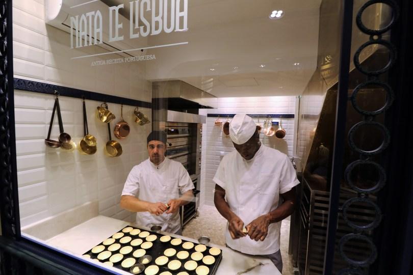 Fabrication des pasteis de nata chez Nata de Lisboa - Lisbonne
