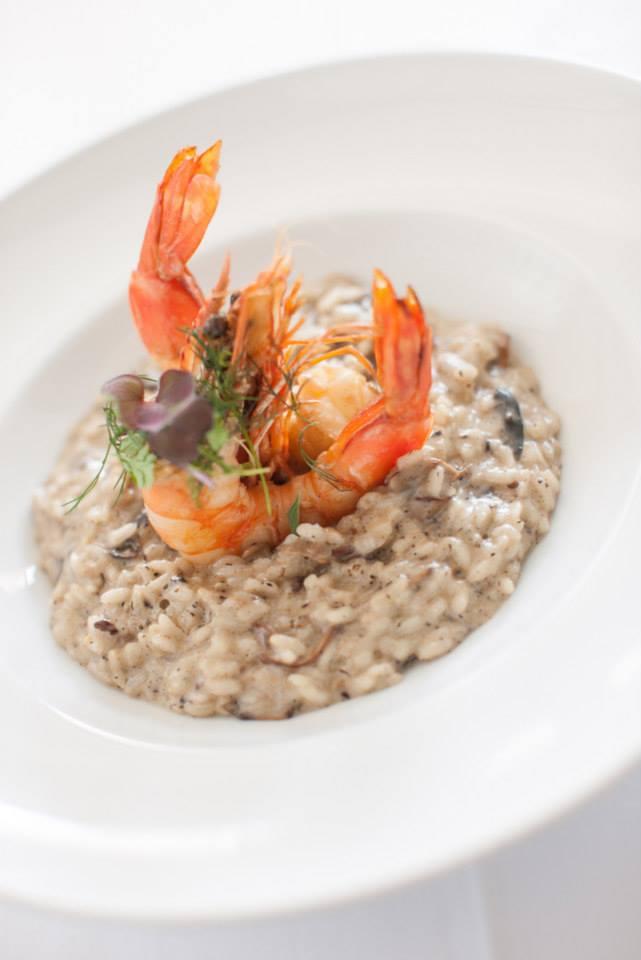 Risotto de champignons et crevettes sauvages - Bistro 100 Maneiras - Lisbonne