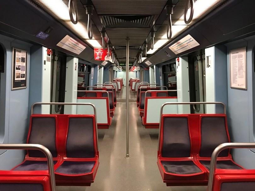 Interieur rame de metro de Lisbonne