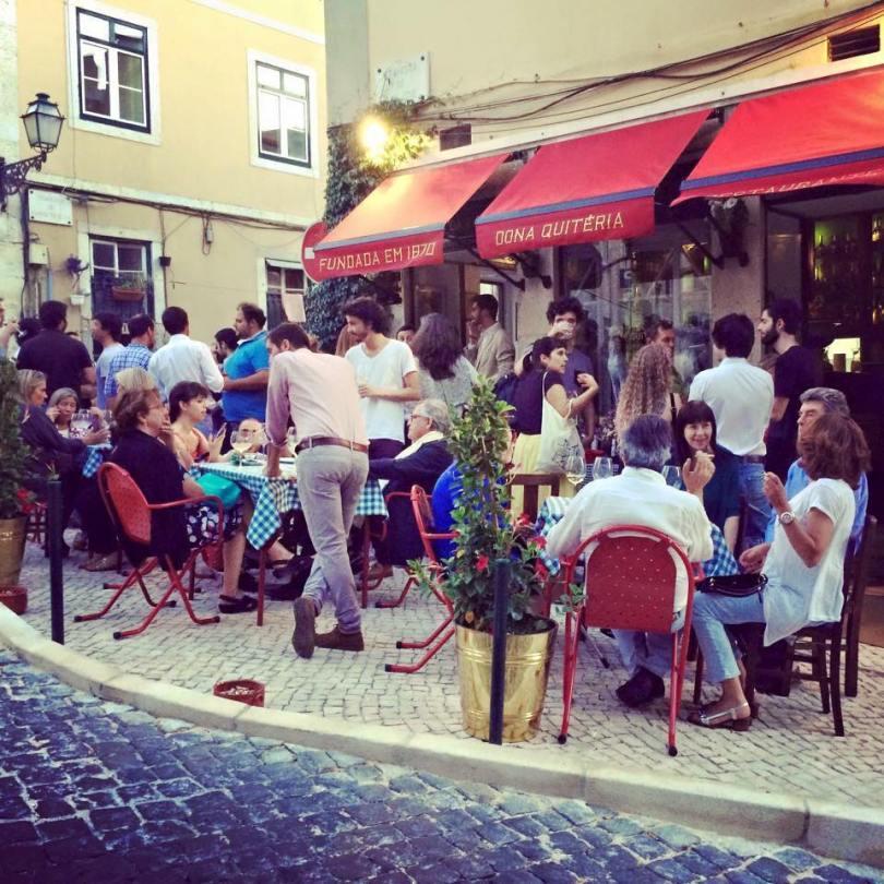 Restaurant Dona Quiteria - Lisbonne - Terrasse