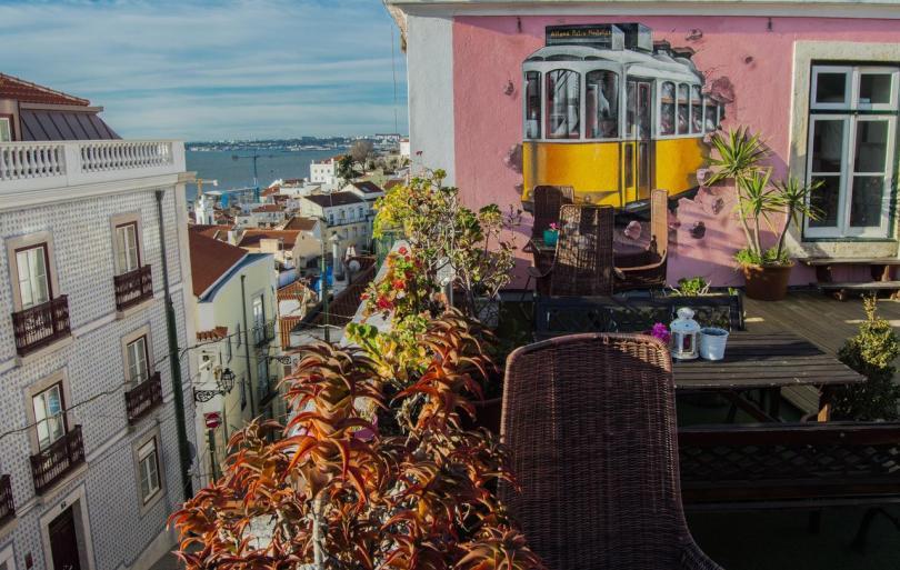 Alfama Patio Hostel - Terrasse - Auberge de jeunesse Lisbonne