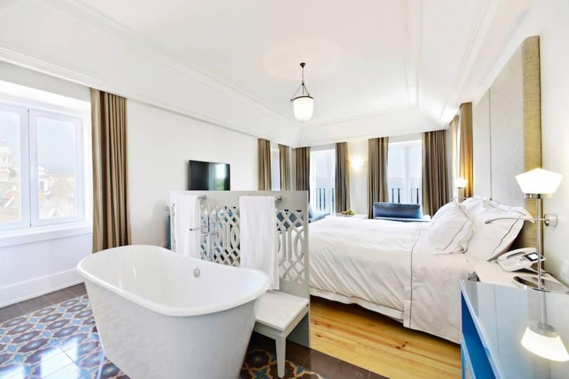Santiago de Alfama - Santiago Suite avec baignoire dans la chambre - Hotel Lisbonne