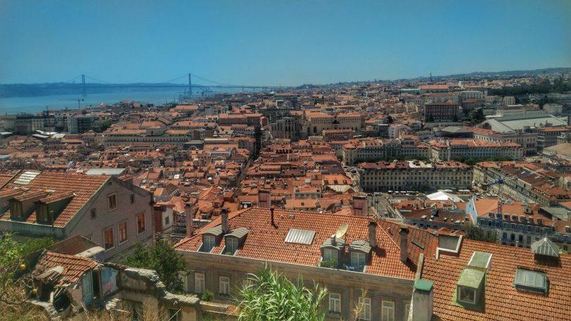 Vue depuis le Chateau Saint Georges Lisbonne - Photo flickr de Vinicus Verza