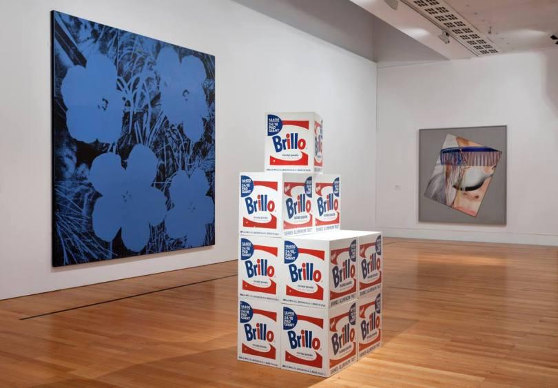 Salle Pop Art du Musee Berardo avec des oeuvres de Andy Warhol et James Rosenquist - Lisbonne