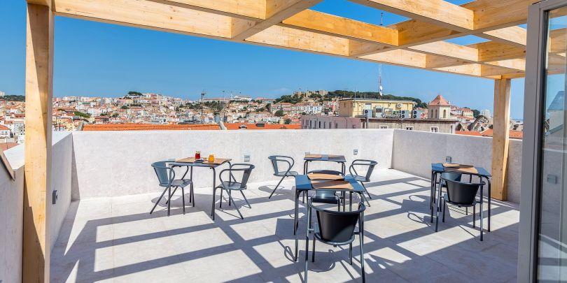 Bar Mensagem -Rooftop - Terrasse - Lisboa Pessoa Hotel - Lisbonne