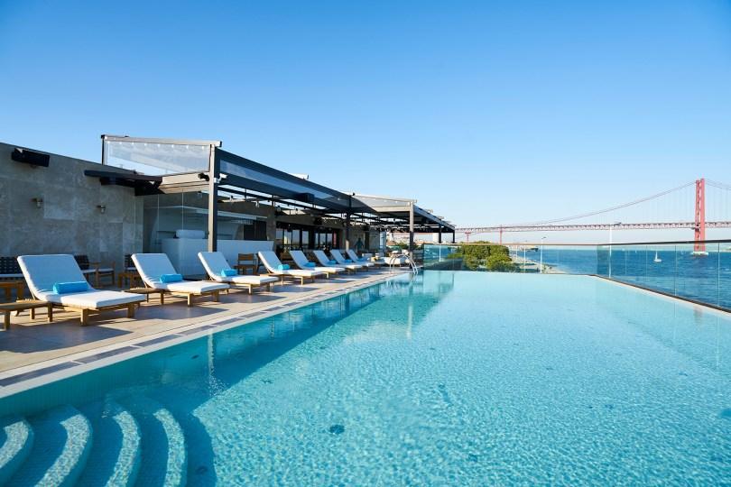 Piscine SUD Lisboa - Terrasse - Bar - Restaurant - Rooftop vue Lisbonne