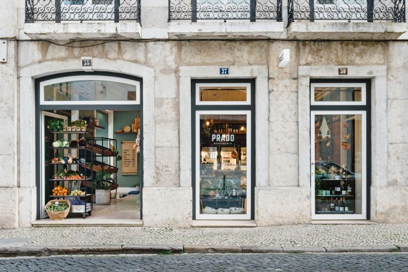 Devanture de Prado Mercearia - Epicerie fine - Lisbonne