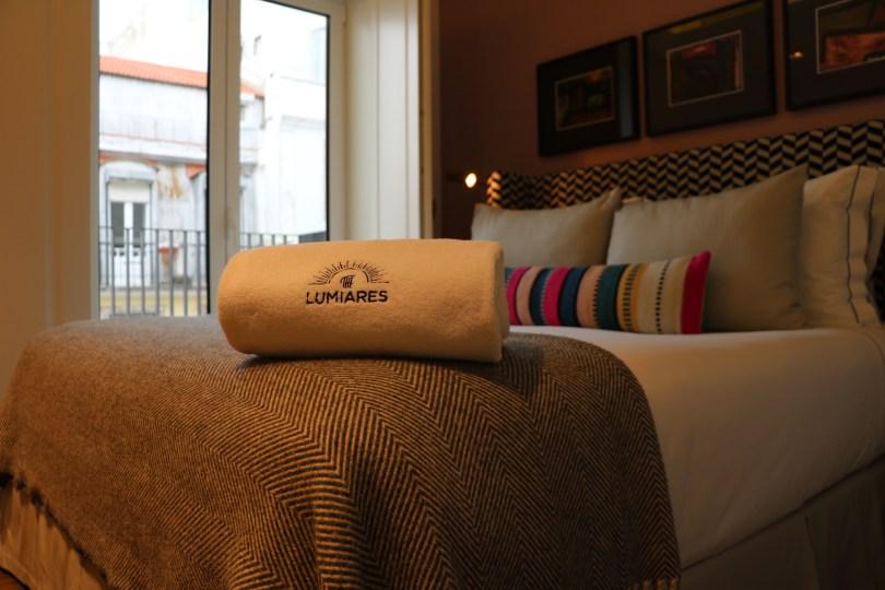 Lit chambre appartement - The Lumiares Hotel Spa - Lisbonne