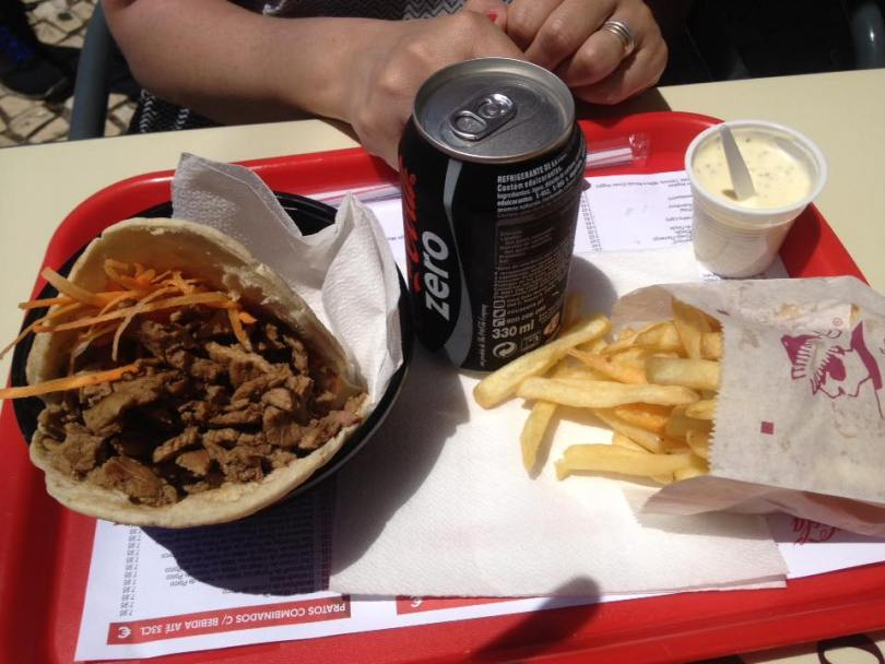 Kebab chez Pao Pao Queijo Queijo - Rua de Belem - Lisbonne