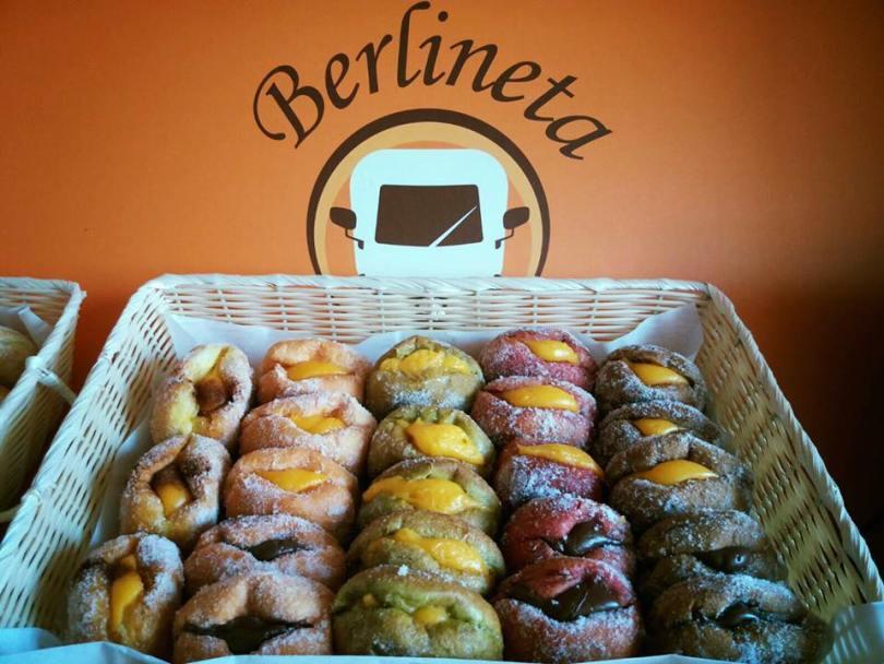 Berlineta - Enseigne de beignets de plage - Bola de Berlim - Lisbonne - Portugal