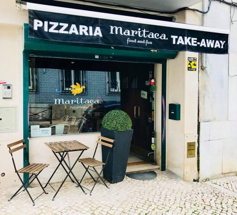 Devanture pizzeria Maritaca - Lisbonne