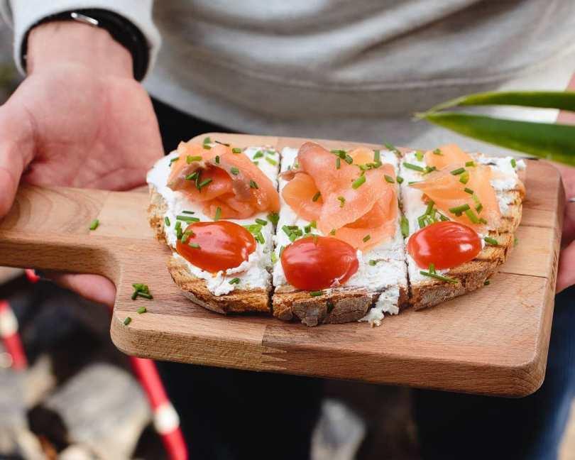 Tartine au saumon au Cafe na Fabrica - LX Factory - Lisbonne