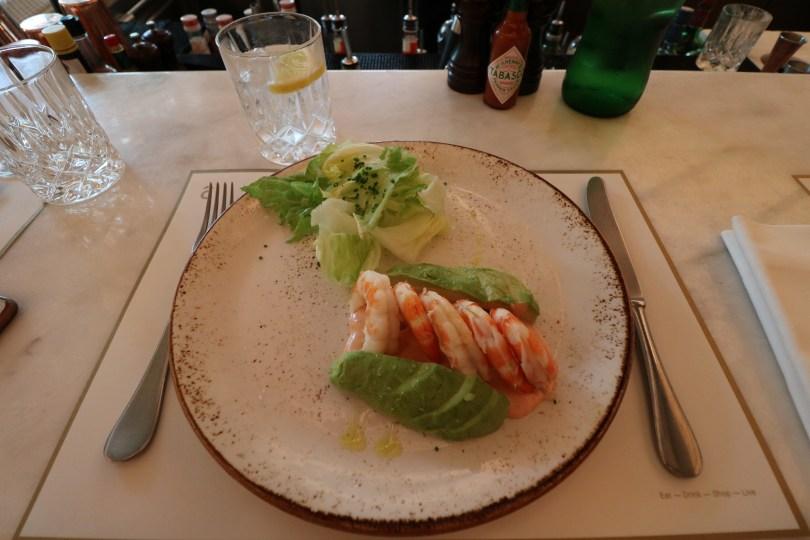 Entree Delibar JNcQUOI - Cocktail de crevettes avocat - Lisbonne