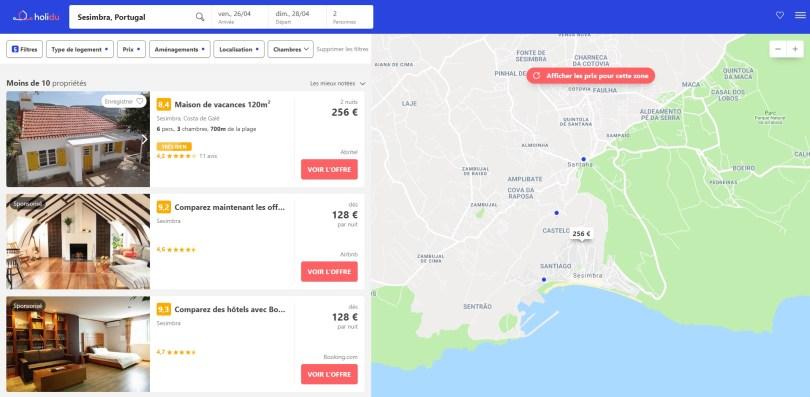 Resultats de recherche - location maison Sesimbra - region Lisbonne