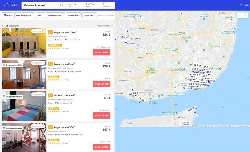 Resultats recherche location appartement - maison - hotel - Lisbonne - Holidu.fr