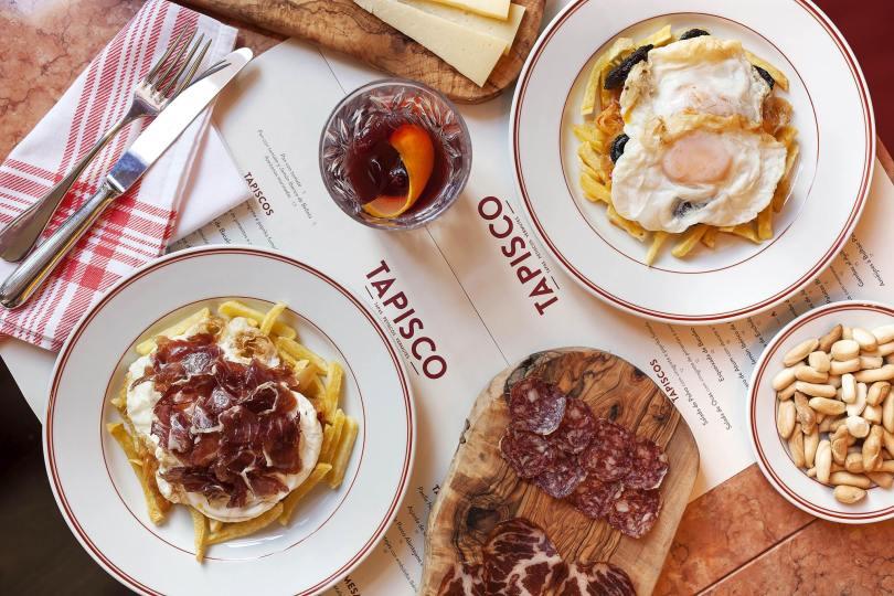 Table de tapas au restaurant Tapisco - Chef Henrique Sa Pessoa - Lisbonne