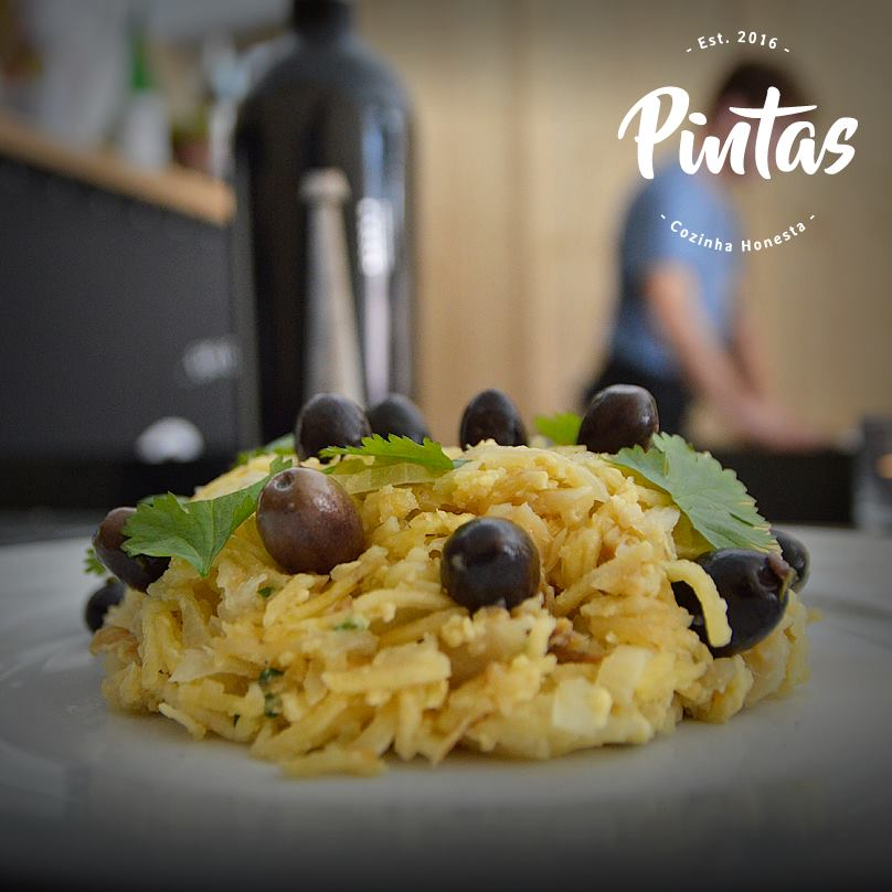Plat de morue - Baclahau a Bras - Restaurant Pintas - Lisbonne