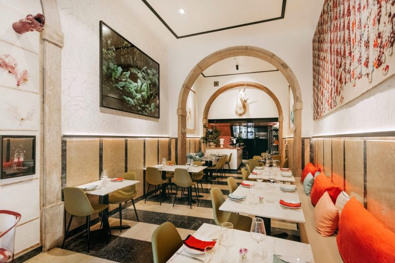 Salle du restaurant Optimista - Lisbonne