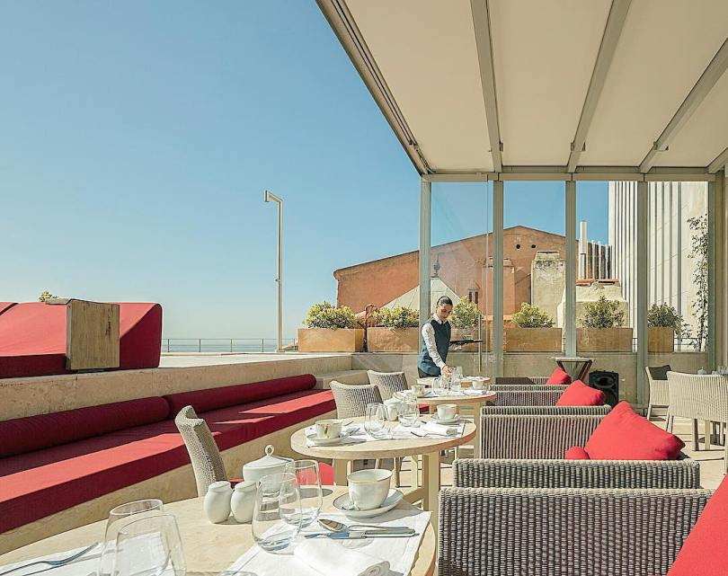 Terrasse exterieure du restaurant Suba - Hotel Verride Palacio Santa Catarina - Lisbonne