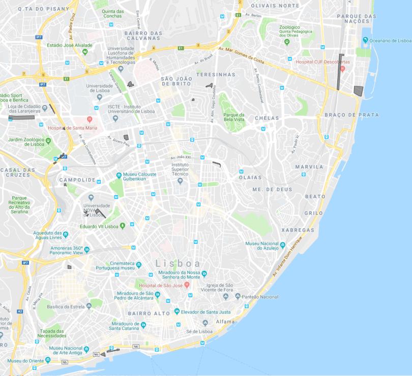 Zones de stationnement pas cheres - Lisbonne - 2 ou 3 euros par jour