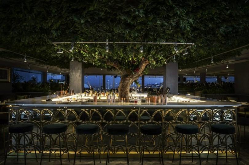 Bar du SEEN Lisboa - Hotel Tivoli Liberdade - Vue sur Lisbonne