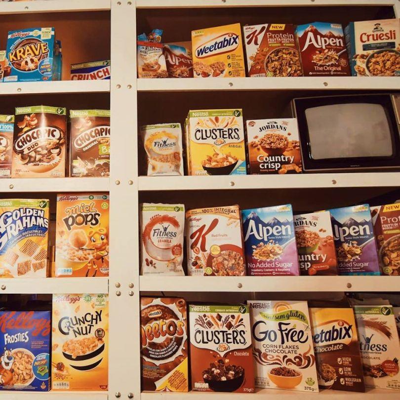Selection de cereales de chez Pop Cereal Cafe - Lisbonne