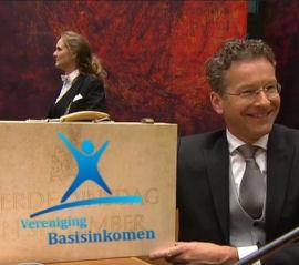 Promotie Basisinkomen op het Plein In Den Haag @ Plein