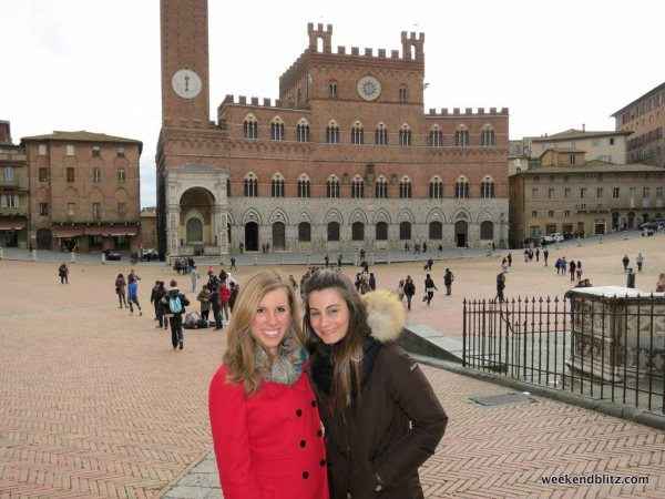 My host sister, Elisabetta, and me!
