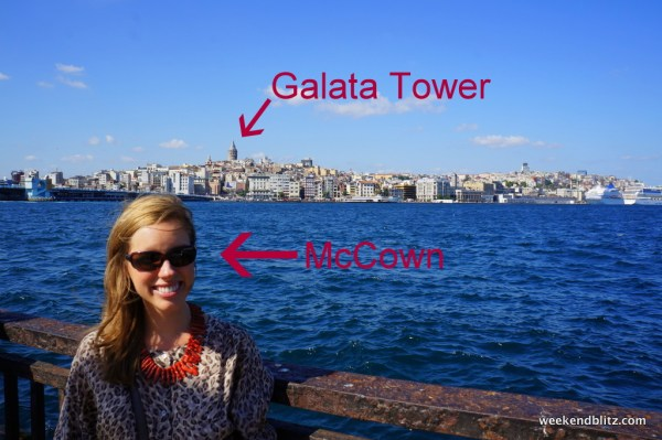 View of the Galata Tower from across the water