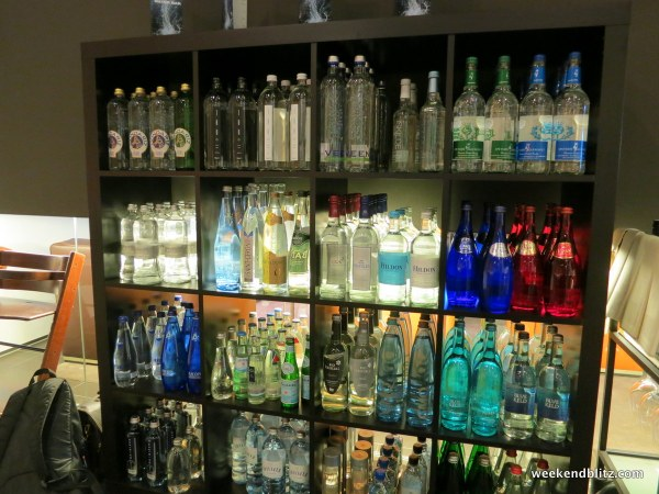 Huge selections of fancy waters from all over the world