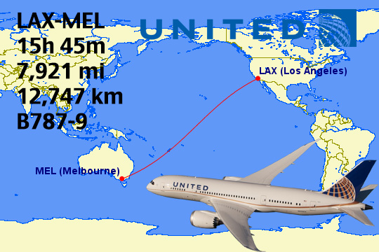 Top Longest United Airlines Flights In The World Weekend Blitz - The 14 longest non stop flights in the world