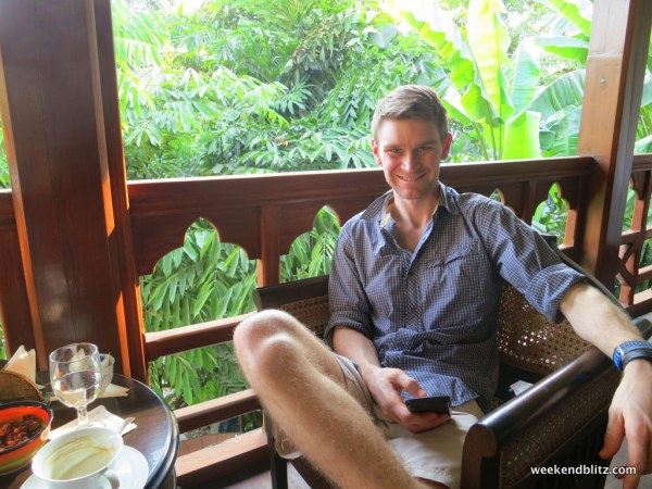 Relaxing at the Belmond Governor's Residence