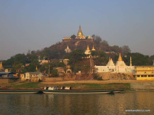 Within 45 minutes of leaving the dock, we were adjacent Sagaing