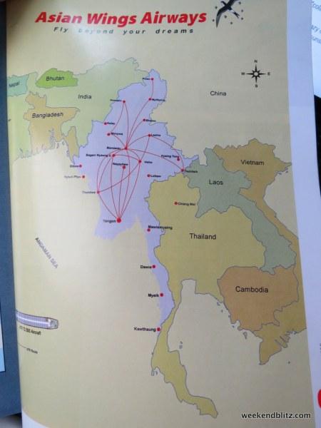 Asian Wings Airways routemap
