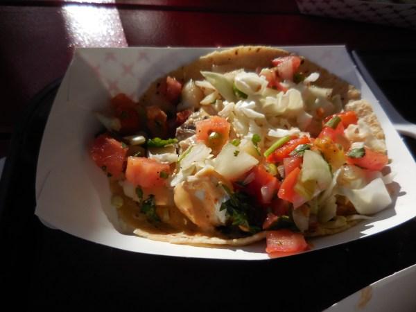 Fish tacos at Malibu Seafood