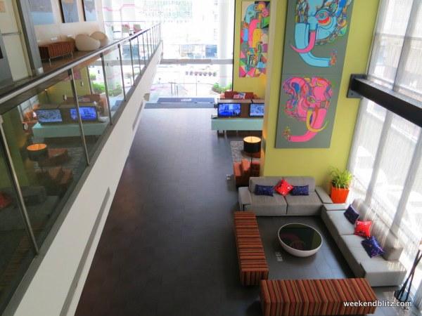 Aloft Bangkok's lobby