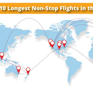 Top Longest Domestic US Flights Weekend Blitz - The 14 longest non stop flights in the world
