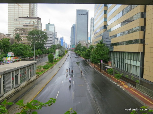 Jalan MH Thamrin on a car-free Sunday