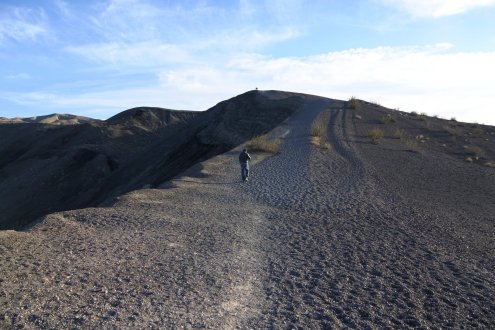 """short"" walk to top of the ridge"