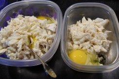 Added egg and salt